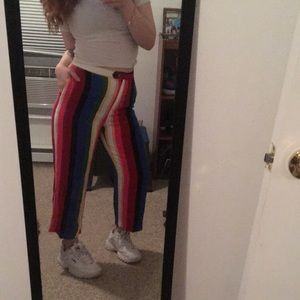multi-colored striped pants! 🌈🍒👻